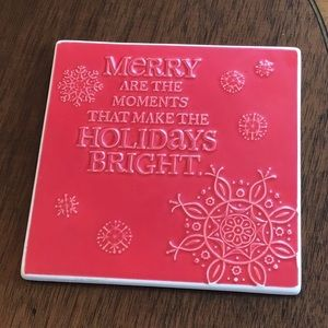 Holiday Red Trivet